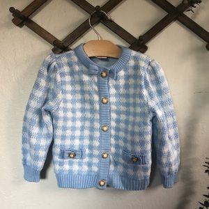 Vintage periwinkle knit sweater size 2